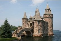 """Castles I Would Love to Own / I have a dream to build my own """"castle"""" someday. It doesn't have to be huge, but I love the look of fabulous old, stone castles. Someday I plan to sit and write my books in my turret room!"""