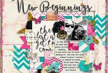 Libby's Creative Team Layouts / Digital Scrapbook layouts created by members of Libby Pritchett's Creative Team / by Libby Pritchett Designs