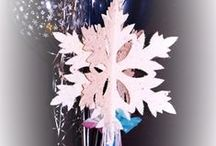 Winter Wonderland / Signs & Party Centerpieces with a wintery or snow ski theme.