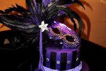 Masquerade: Purple and gold / Only a few weeks to plan one awesome party for my home girl who is getting married!  / by Rebecca Hilburn