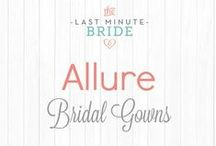 Allure Bridal Gowns - In Stock / Allure bridal gowns in stock from www.thelastminutebride.com. Why wait and why pay more get your dream dress today from The Last Minute Bride!  #BridalGown #Wedding #WeddingBudget #DestinationDresses #BudgetDresses