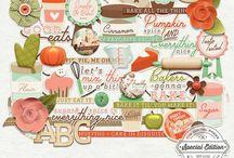 Mommyish Graphic Design / Personal use digital scrapbooking kits.