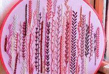 embroidery / embroidery, cross stitch, needlepoint, needlework, stitching