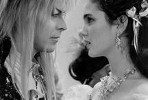 movies ➞ labyrinth / Sarah: Through dangers untold. And hardships unnumbered. I have fought my way here to the castle; beyond the goblin city, to take back the child that you have stolen. My will is as strong as yours, and my kingdom as great...  Jareth: Stop! Look what I'm offering you. Your dreams. [...] I ask for so little. Just fear me. Love me. Do as I say, and I shall be your slave.                                                                                             Sarah: You have no power over me!