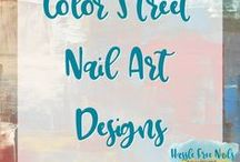 Color Street Nail Art Designs Nail Polish Strips / Color Street nails are strips of real nail polish.  They contain a base coat, polish and top coat.  They are super easy to apply and will typically last 14 days.  Check out my website and order yours www.mycolorstreet.com/faithsears