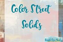 Color Street Solid Color Nail Polish Strips / Color Street nails are strips of real nail polish. They contain a base coat, polish and top coat. They are super easy to apply and will typically last 14 days. Check out my website and order yours www.mycolorstreet.com/faithsears