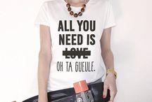 Pull/ T-shirt à messages
