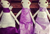 Rag Doll Experiment / Things I could and will totally make... often ideas for the Weensies Ragdolls from Weensie Village on Etsy / by Eileen Loughman