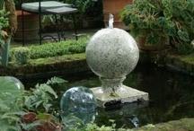 Fountains in the garden