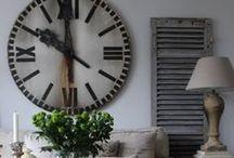 Wall clocks  in interior design