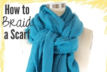 Scarves and Ways to Wear Them / Ideas for scarf color combinations and different ways to tie and wear scarfs / scarves  / by Heather D
