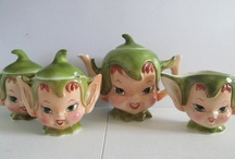 Go Elf Yourself, I'm Stickin' with Pixies / So, I was looking around for some vintage pixie/elf ornaments and I discovered there are a ton of cool vintage  pixie themed items.  Methinks it's time for a pixie board!