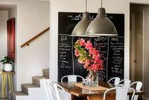 The blackboards in home decor