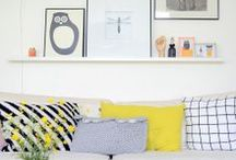 Pillows and poufs in home decor