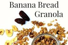 Granola, Nuts, Bites, Bars and Balls / The very best and healthiest granola recipes along with nuts, trail mix, energy bites, bars and balls. All vegetarian friendly.