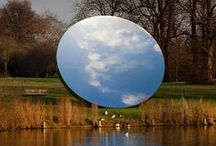 Land Art / Landscape art and architecture. Modern and abstract art pieces in natural environments or materials.