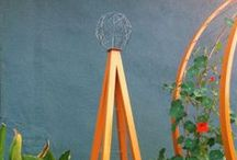"Kumquat Color / Inspiration for our orange ""kumquat"" color. We make garden trellises and modern sculptures in this color."