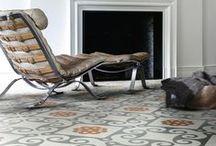 Cement tiles in interiors