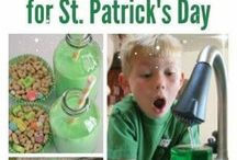 Fun Ideas for St. Patricks Day for Kids / Crafts, games, cooking and more!  Green fun for St. Pats day here!