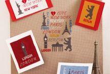 City & Countries / Hier findest Du schöne Motive zum Sticken rund um das Thema Städte, Wahrzeichen und Reise.