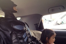 The Dark Knight Rises in Oakville / Picked up a giant Batman doll at Costco. Mayhem ensues.