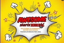 Awesome Starts Here / Looking for an awesome story? How about 100 of them! EPL staff have compiled 100 of the best stories around.  These stories are available in a bunch of different ways - as books, movies, graphic novels and more! Experience the story in whichever way you like best.