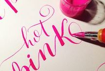 Calligraphy & Hand lettering / Calligraphy and hand lettering inspiration