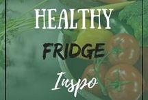 Healthy Fridge Inspo / Healthy Vegan Plantbased Food Ingredients Ideas Inspiration Fridge