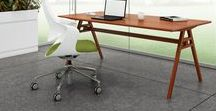 Trestle Tables and Desks / Solid American hardwoods or satin chrome steel paired with premium ModernGrain veneers in distinctive tables with a handmade feel, Trestle brings a residential feel to the workplace.
