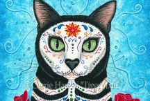 Tigerpixie's Fantasy Cat Art / My Fantasy Cat Art! :) All images copyright Carrie Hawks, Prints & Gift Items featuring my artworks are available on my website. © Carrie Hawks, Tigerpixie Art Studio, Fantasy Cat Art Tigerpixie.com
