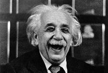 """Einstein / """"Great spirits have always encountered violent opposition from mediocre minds. The mediocre mind is incapable of understanding the man who refuses to bow blindly to conventional prejudices and chooses instead to express his opinions courageously and honestly."""" Albert Einstein / by Maribel"""