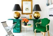 Emerald Decor and Lighting / Emerald Green is the Pantone 2013 Color of the Year! Get inspired to use this rich jewel-tone hue in your home with this collection of lighting, home decor, and inspiring room scenes. / by Lamps Plus