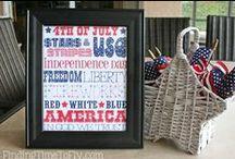 4th of July Party Ideas / 4th of July party ideas, 4th of July food, 4th of July decorations, 4th of July printables