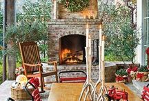 Exterior Fireplaces / Bring a warm inviting glow to your outdoor entertaining with an outdoor fireplace.