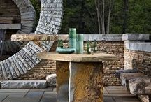 Natural stone patios and walkways / Natural stone creates a harmonious outdoor design that cannot be matched.