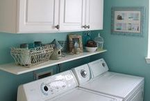 To Decorate ~ Laundry Room / Laundry room decor and organization ideas