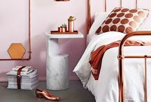 Copper Blush Colour Trend / Dulux announced their colour of the year 2015 as Copper Blush. Lots of ideas, tips and suggestions on how to incorporate it into your home decor and interiors.