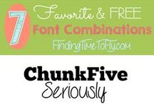 Free Fonts / Some of my favorite and free fonts