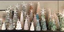 Coastal Christmas / Coastal Christmas, seashell ornaments, seashell Christmas decor