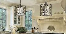 Kitchen Lighting / Kitchen Light Fixtures For Every Purpose. Turn the heat up on style in your cooking space with kitchen light fixtures from Lamps Plus. Start with our design ideas above and then browse for the solution that's best for you. From handsome pot rack chandeliers to flexible track lighting, we offer kitchen lighting to address every kitchen need.