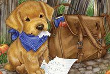 Dog / Paint / Art
