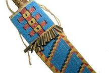 Native Knife/Beaded Sheath