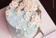 Wreath cake / Beautiful butter cream flower cake # Wreath cake #