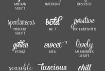 typography + fonts / font inspiration, typography guidelines