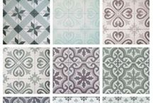 Beautiful Tiles / Geometric, arabesque, Moroccan, and other creative tile designs.