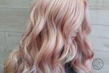 Rose gold-Pink hair
