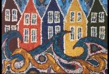 Rugs by Deanne Fitzpatrick / These are my hooked rugs, you can see more at www.hookingrugs.com