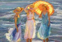 beach & sea on canvas