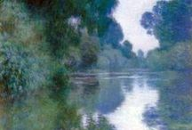 Claude Monet / Claude Monet (French pronunciation: [klod mɔnɛ/mɔne]) (14 November 1840 – 5 December 1926) was a founder of French impressionist painting, and the most consistent and prolific practitioner of the movement's philosophy of expressing one's perceptions before nature, especially as applied to plein-air landscape painting.[1][2] The term Impressionism is derived from the title of his painting Impression, Sunrise (Impression, soleil levant).  Wikipedia