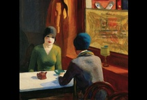 """Edward Hopper / """"Edward Hopper (July 22, 1882 – May 15, 1967) was a prominent American realist painter and printmaker. While he was most popularly known for his oil paintings, he was equally proficient as a watercolorist and printmaker in etching. Both in his urban and rural scenes, his spare and finely calculated renderings reflected his personal vision of modern American life""""  Wikepedia....NOTE:  Many pins have been MIS-ATTRIBUTED to Hopper.  Some are still on this board ...use caution"""